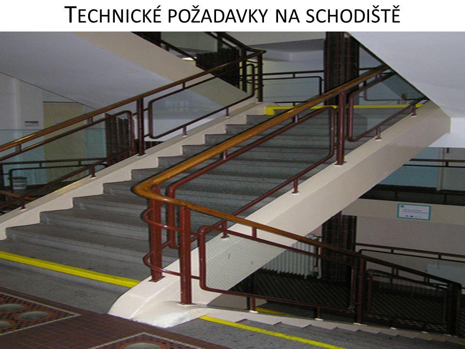 Technické požadavky na schodiště