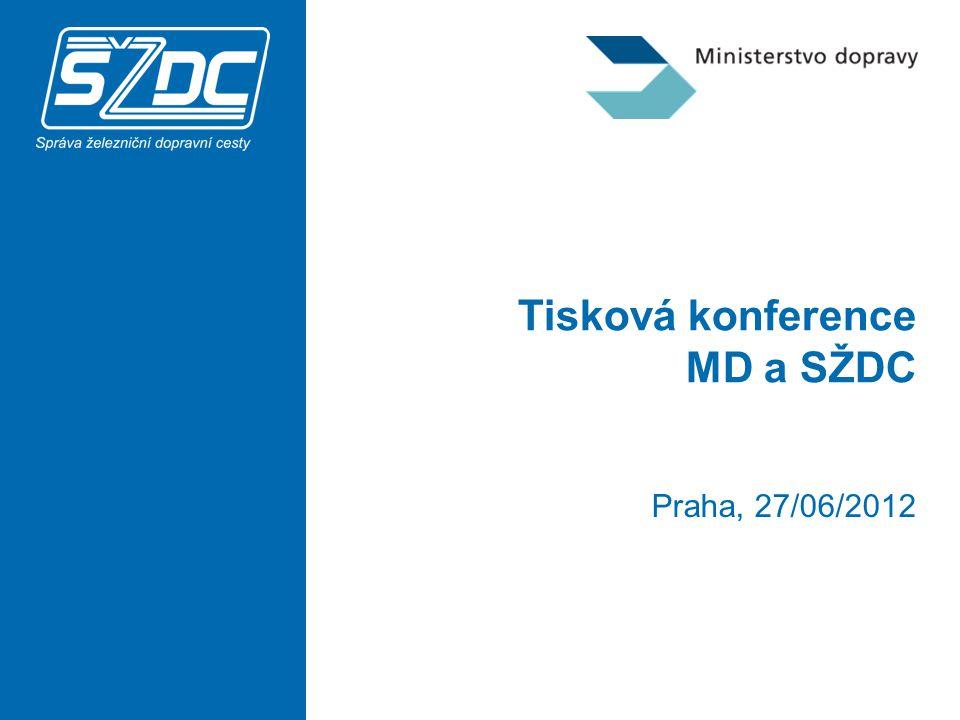Tisková konference MD a SŽDC