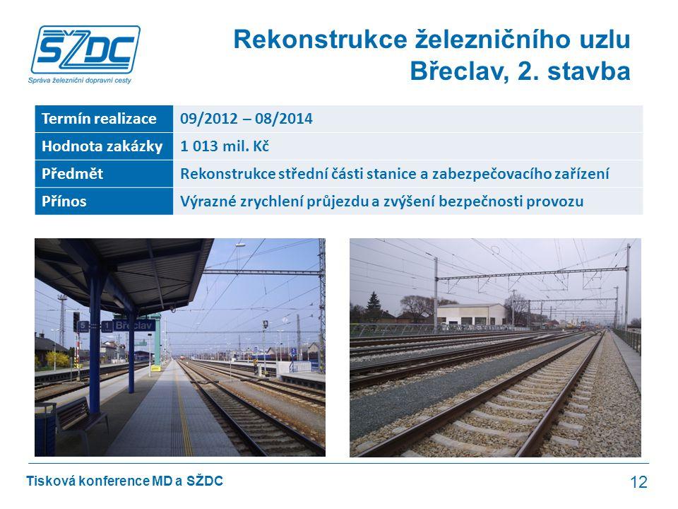 Rekonstrukce železničního uzlu Břeclav, 2. stavba