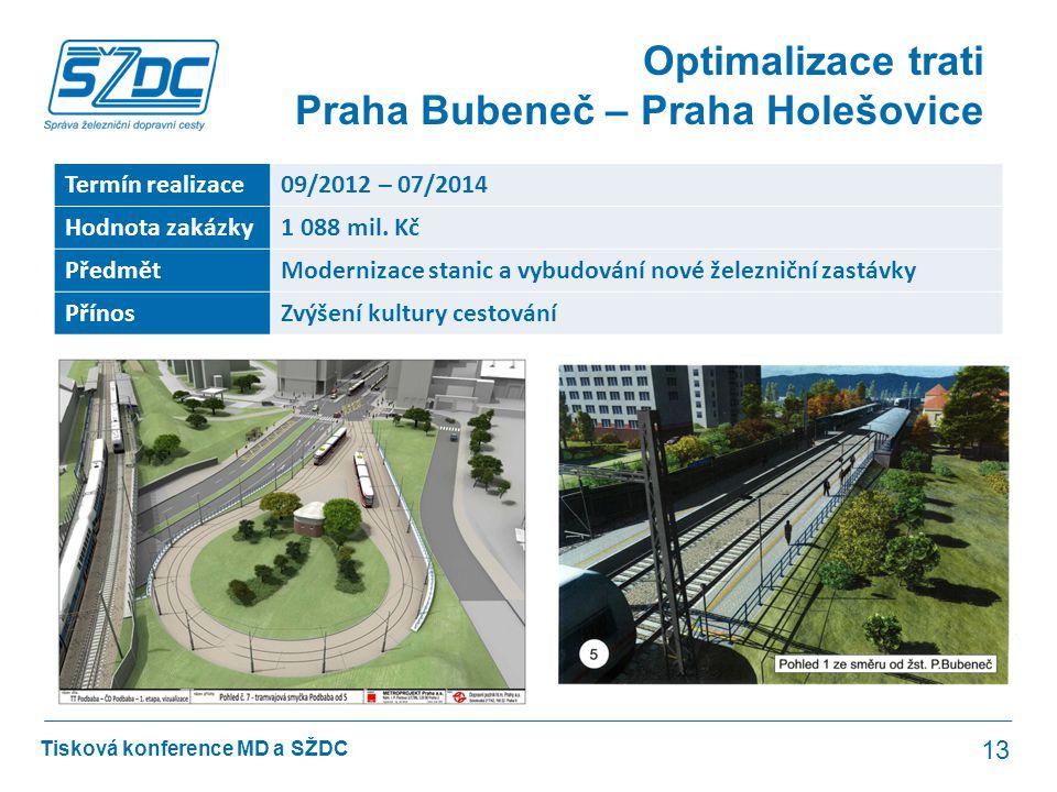 Optimalizace trati Praha Bubeneč – Praha Holešovice