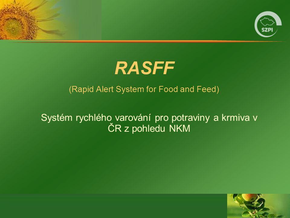 RASFF (Rapid Alert System for Food and Feed) Systém rychlého varování pro potraviny a krmiva v ČR z pohledu NKM.