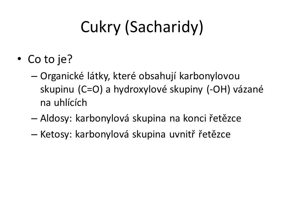 Cukry (Sacharidy) Co to je