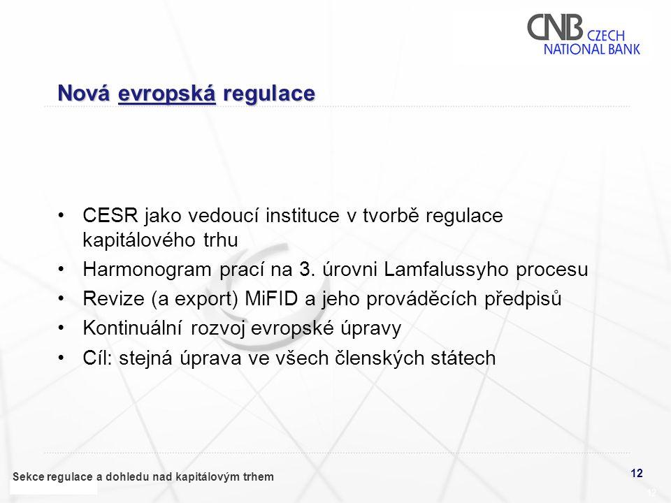 Nová evropská regulace