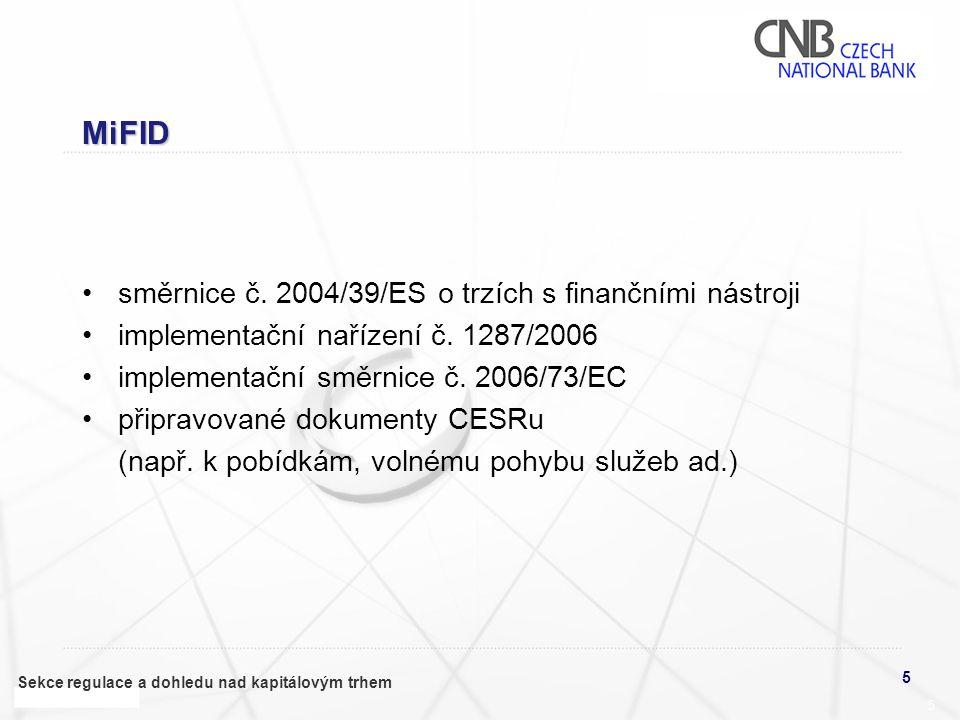 MiFID směrnice č. 2004/39/ES o trzích s finančními nástroji