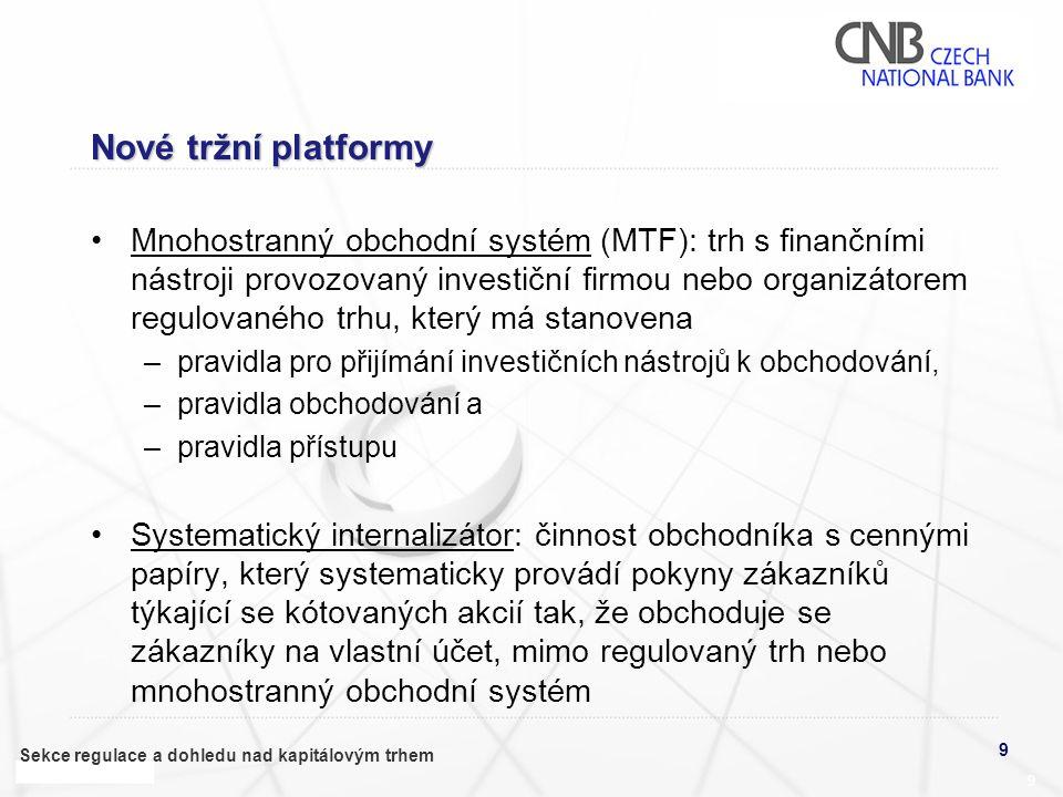 Nové tržní platformy