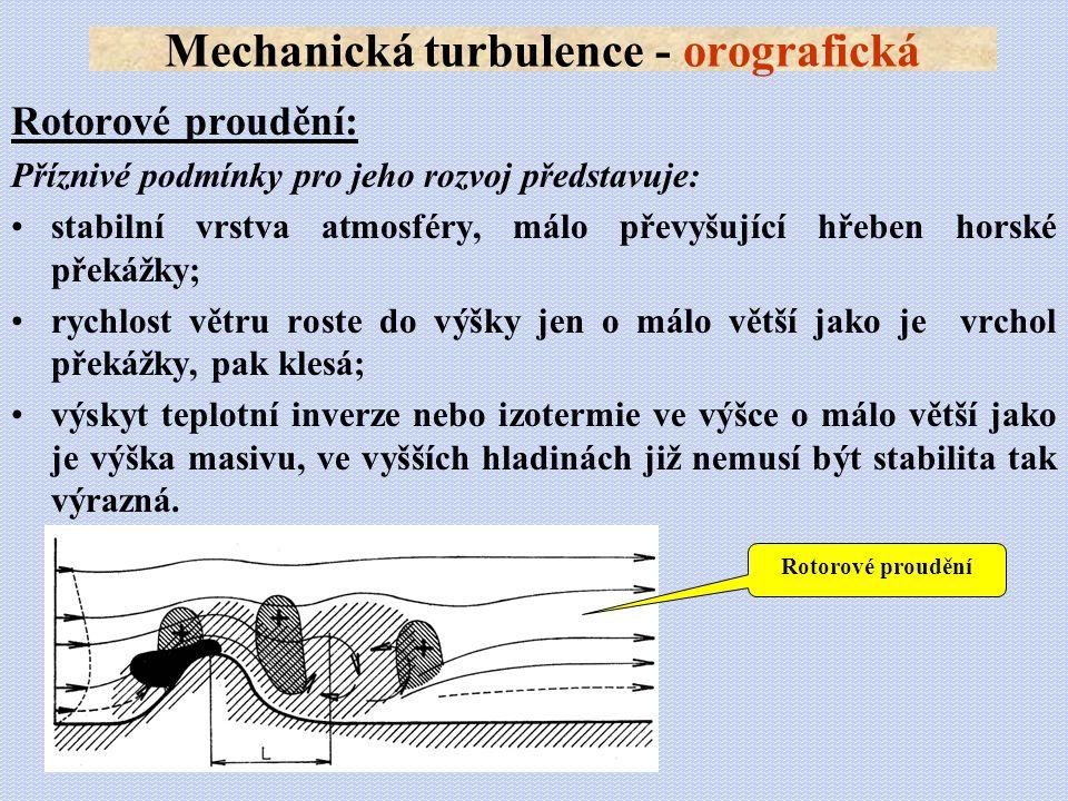 Mechanická turbulence - orografická