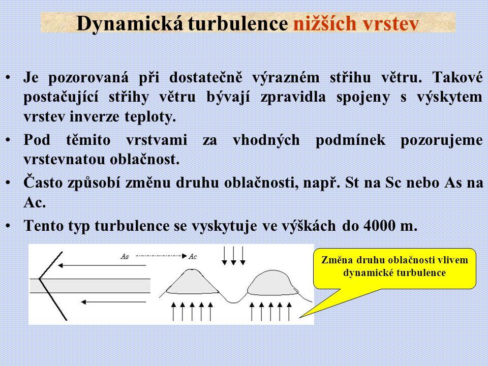 Dynamická turbulence nižších vrstev