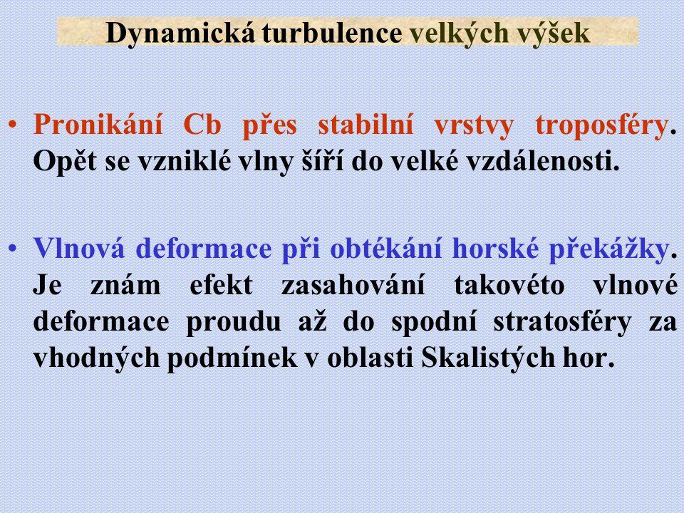 Dynamická turbulence velkých výšek
