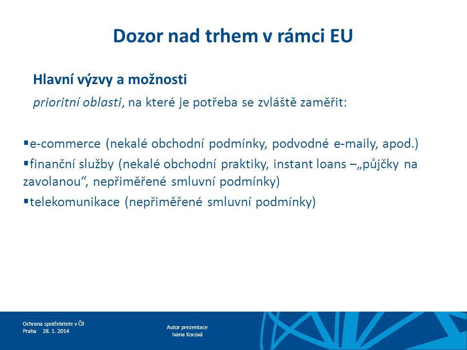 Dozor nad trhem v rámci EU