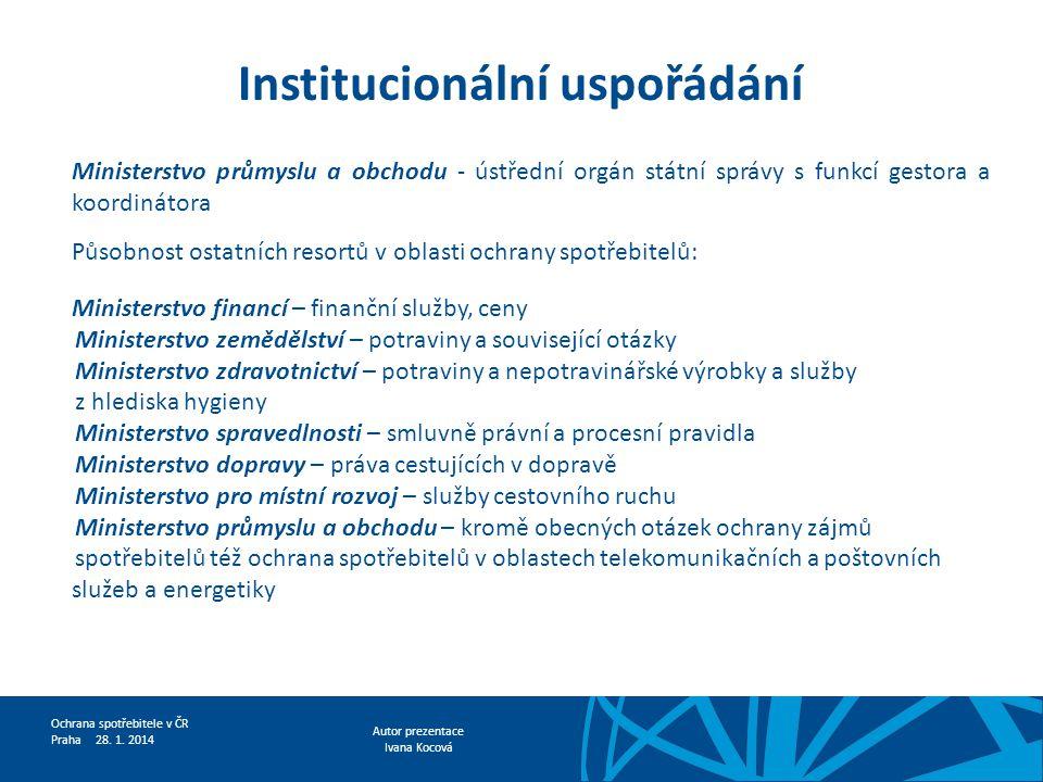 Institucionální uspořádání