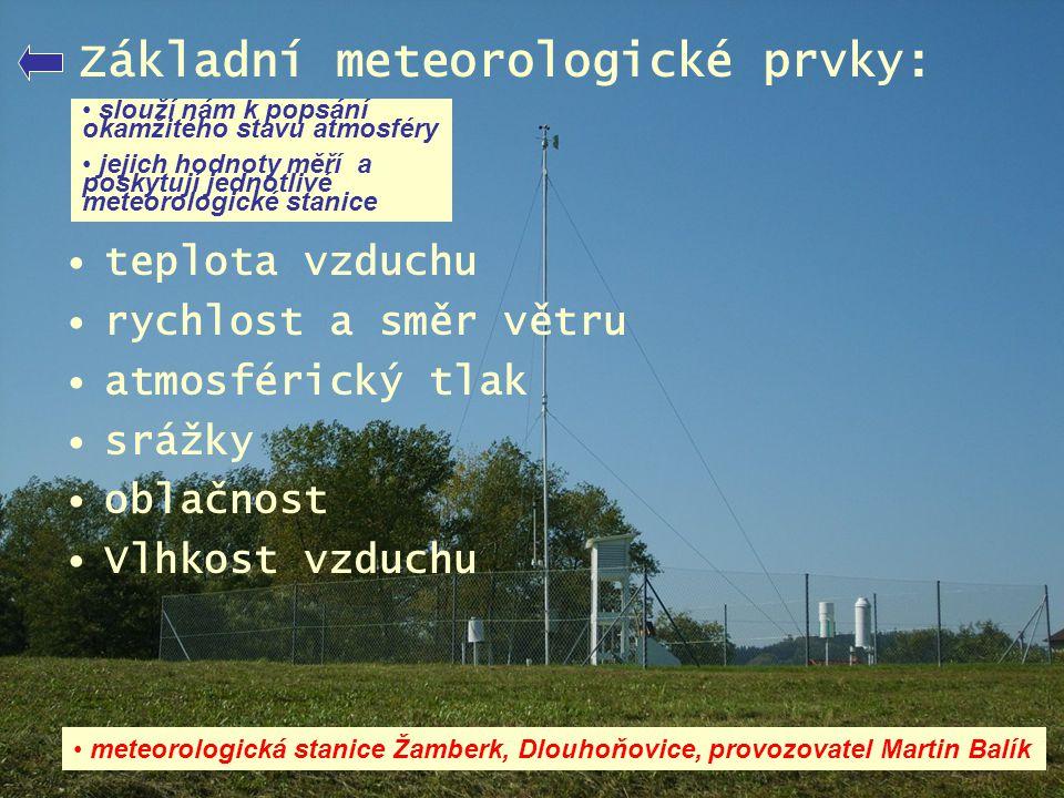 Základní meteorologické prvky:
