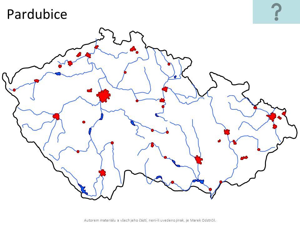 Pardubice Autorem materiálu a všech jeho částí, není-li uvedeno jinak, je Marek Odstrčil.
