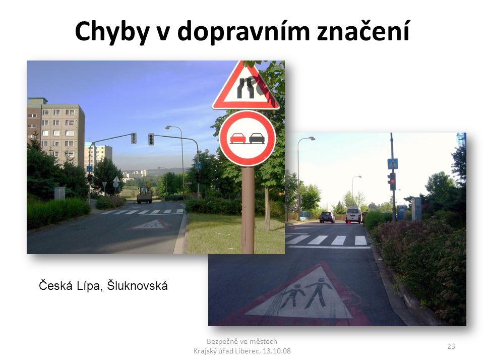Chyby v dopravním značení