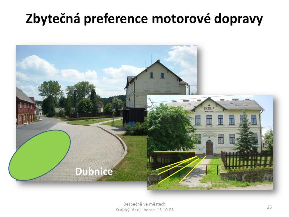 Zbytečná preference motorové dopravy