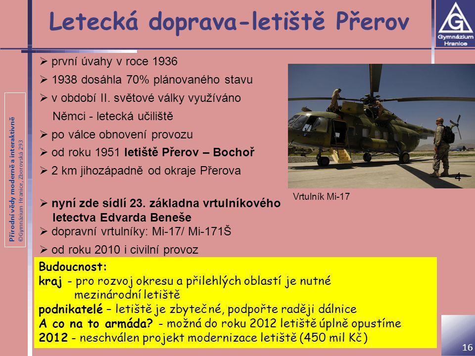 Letecká doprava-letiště Přerov