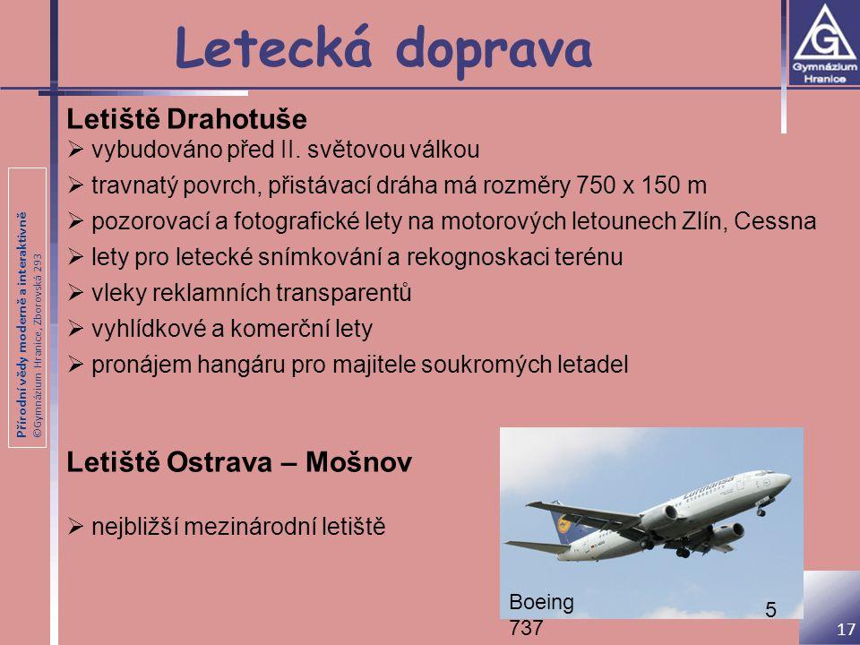 Letecká doprava Letiště Drahotuše Letiště Ostrava – Mošnov