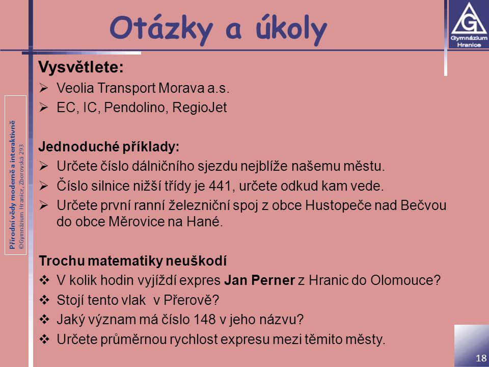 Otázky a úkoly Vysvětlete: Veolia Transport Morava a.s.