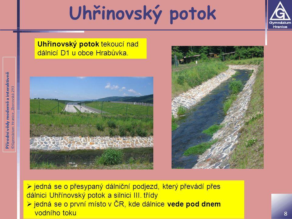 Uhřinovský potok Uhřinovský potok tekoucí nad dálnicí D1 u obce Hrabůvka.