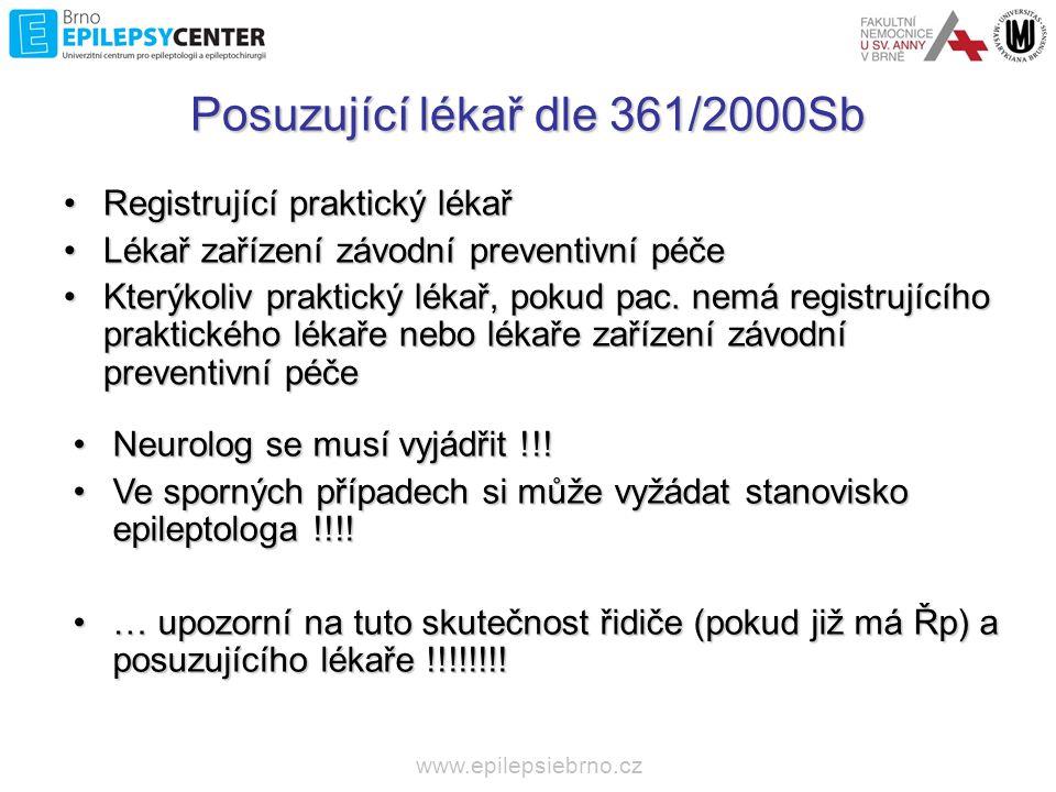 Posuzující lékař dle 361/2000Sb
