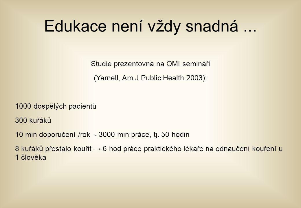 Edukace není vždy snadná ...