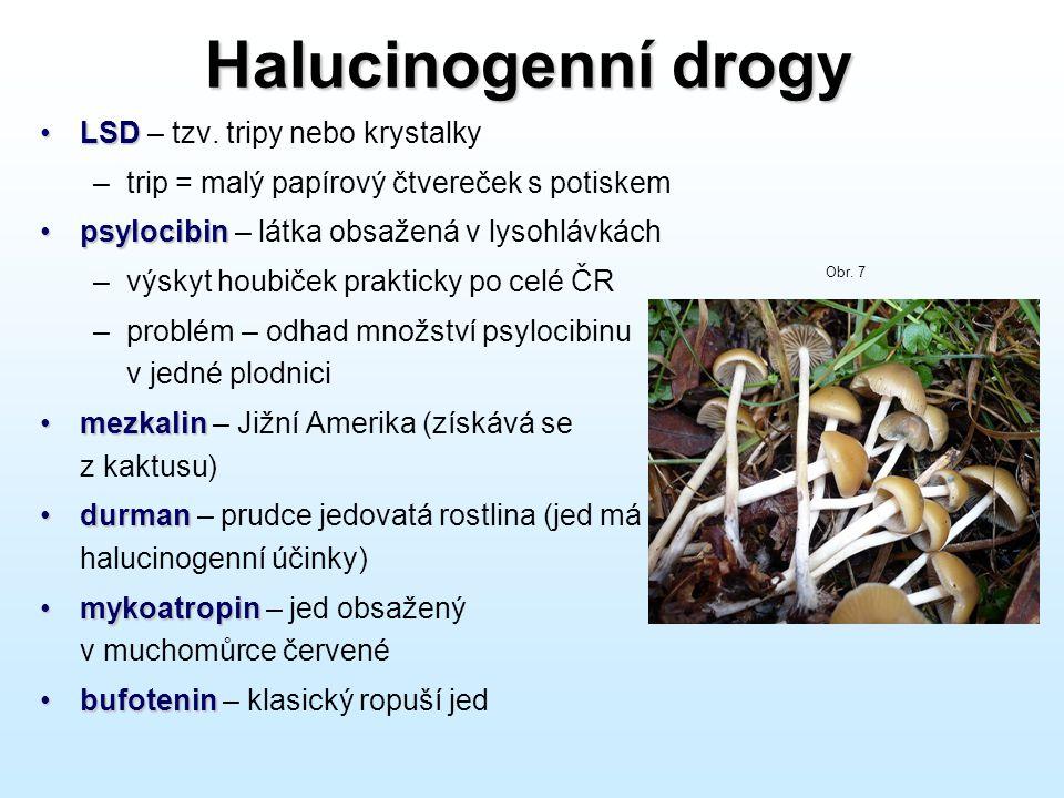 Halucinogenní drogy LSD – tzv. tripy nebo krystalky