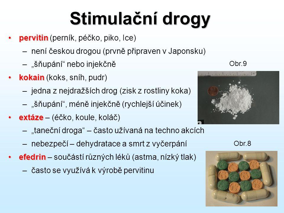 Stimulační drogy pervitin (perník, péčko, piko, Ice)