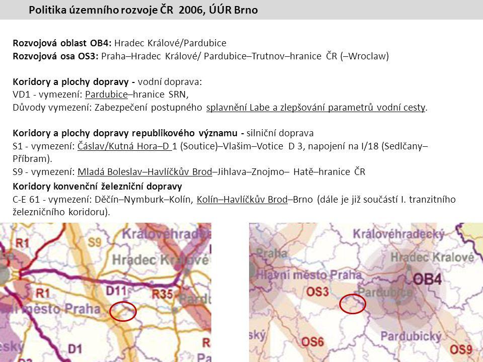 Politika územního rozvoje ČR 2006, ÚÚR Brno