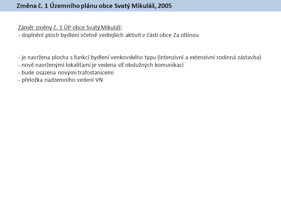 Změna č. 1 Územního plánu obce Svatý Mikuláš, 2005