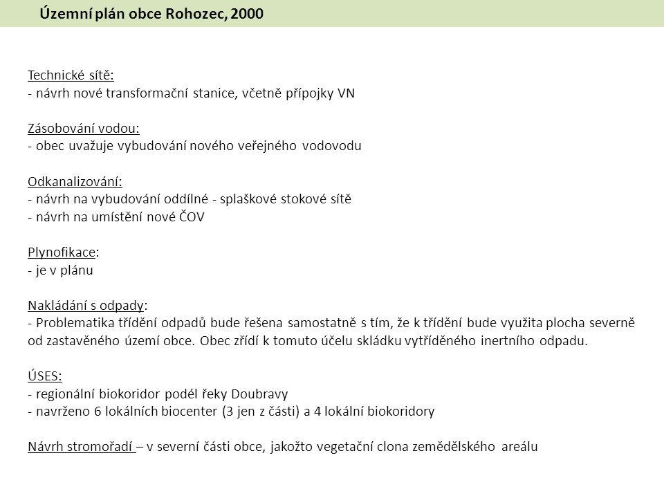 Územní plán obce Rohozec, 2000