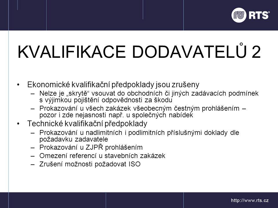 KVALIFIKACE DODAVATELŮ 2