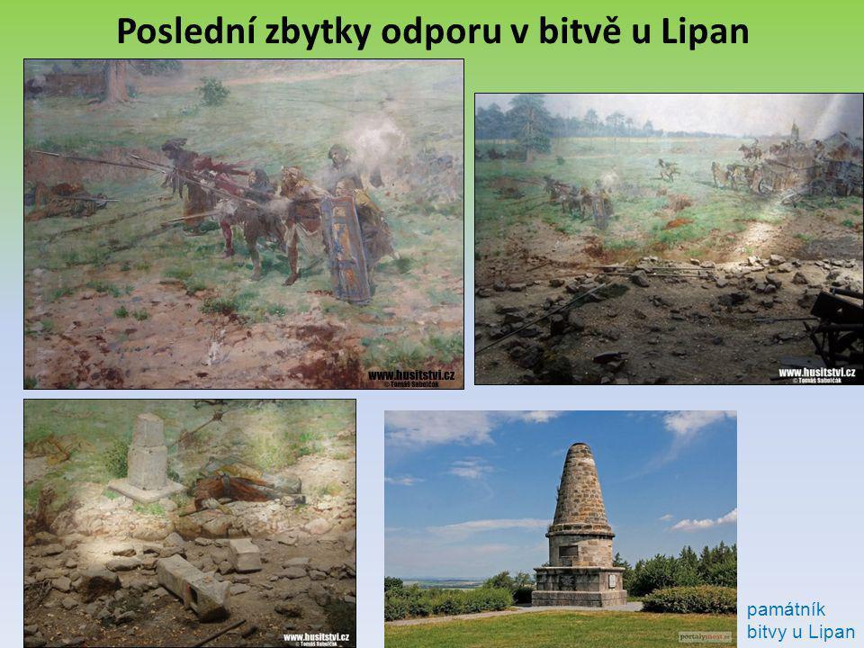 Poslední zbytky odporu v bitvě u Lipan
