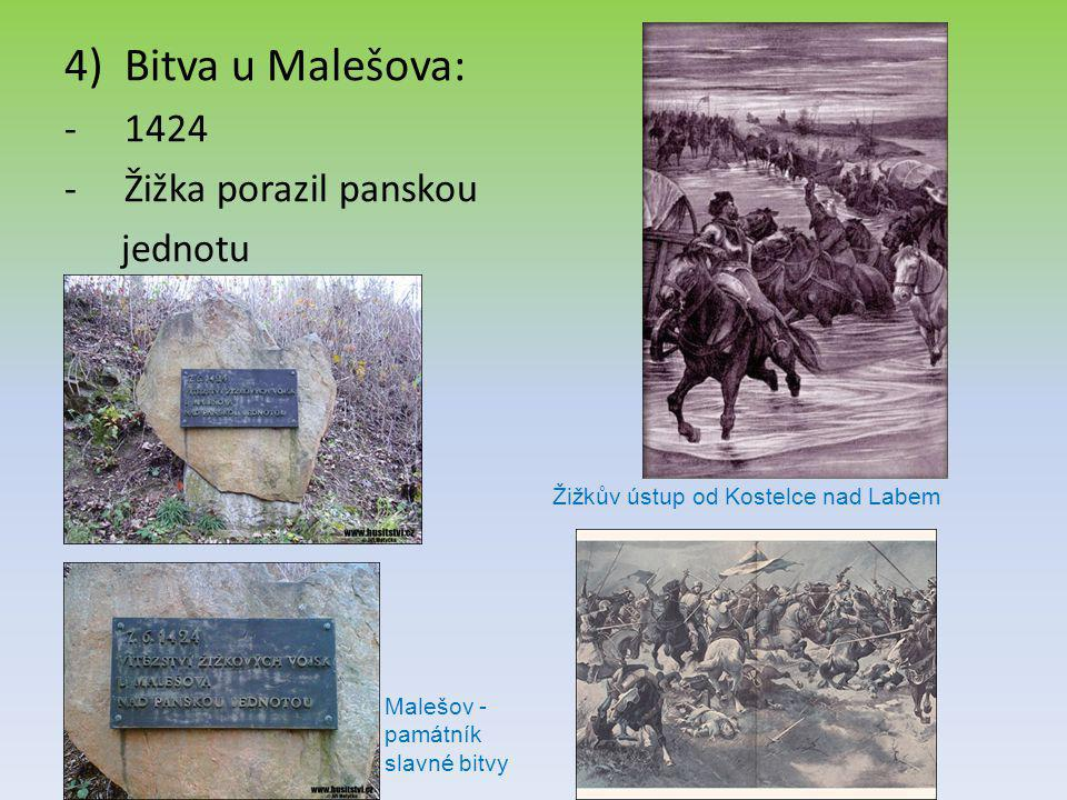 Bitva u Malešova: 1424 Žižka porazil panskou jednotu