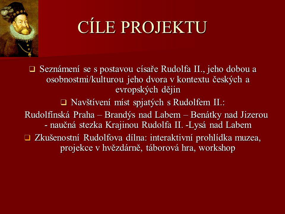 Navštívení míst spjatých s Rudolfem II.: