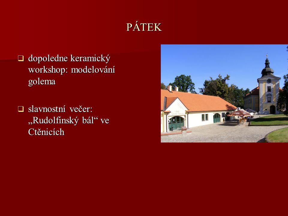 PÁTEK dopoledne keramický workshop: modelování golema
