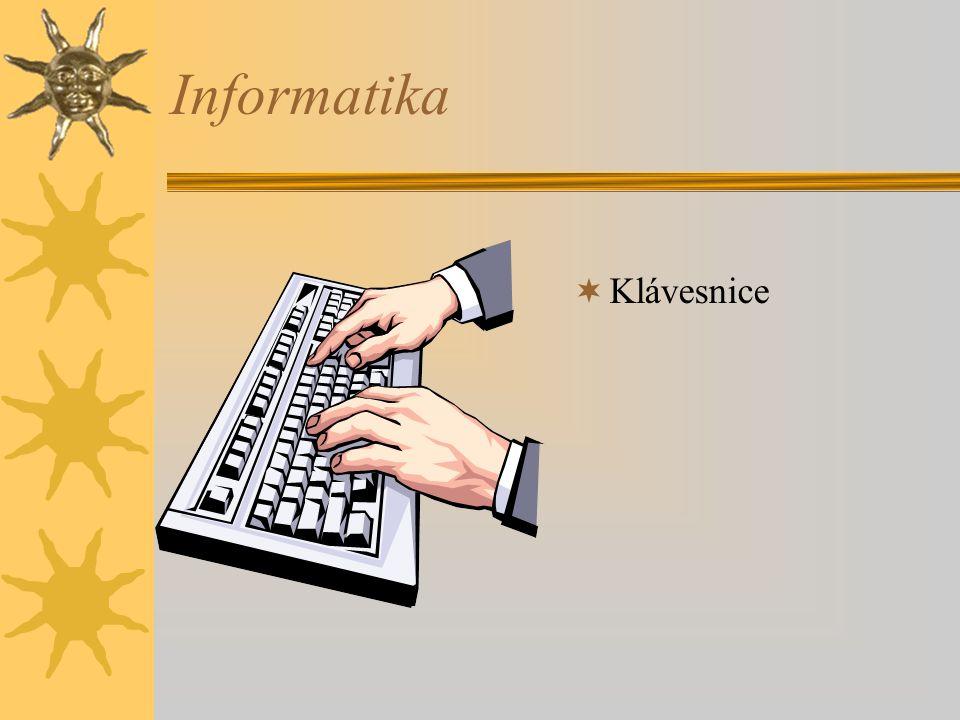 Informatika Klávesnice
