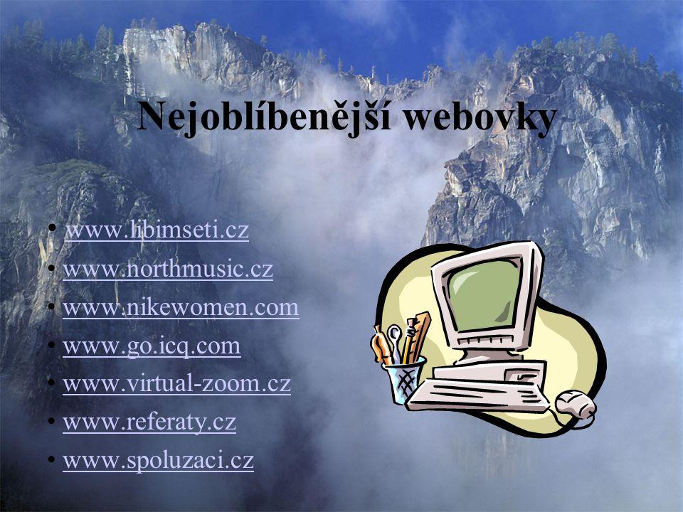 Nejoblíbenější webovky