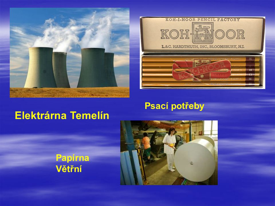 Psací potřeby Elektrárna Temelín Papírna Větřní