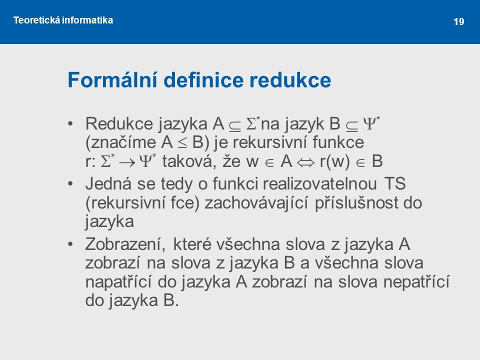 Formální definice redukce