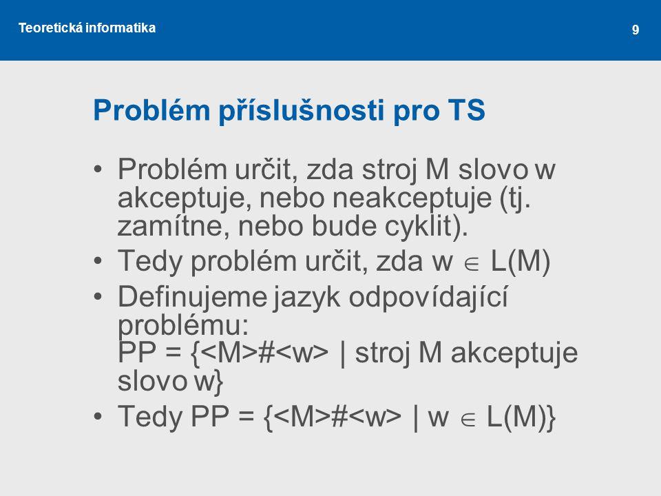 Problém příslušnosti pro TS