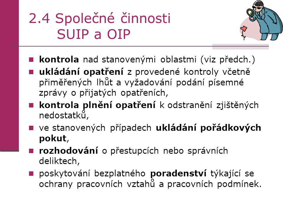 2.4 Společné činnosti SUIP a OIP