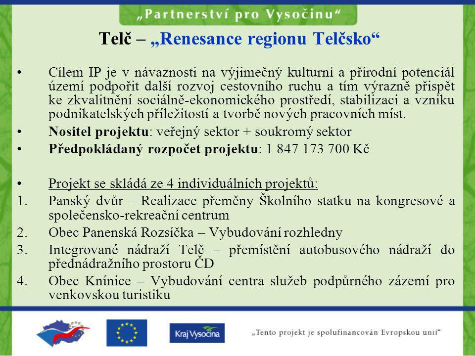 """Telč – """"Renesance regionu Telčsko"""
