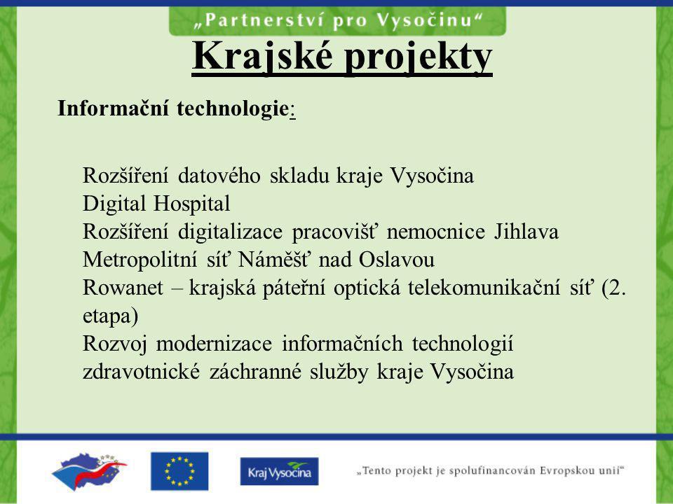 Krajské projekty Informační technologie: