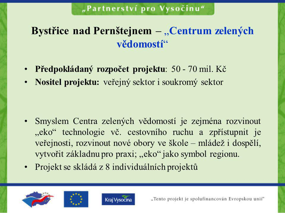 """Bystřice nad Pernštejnem – """"Centrum zelených vědomostí"""