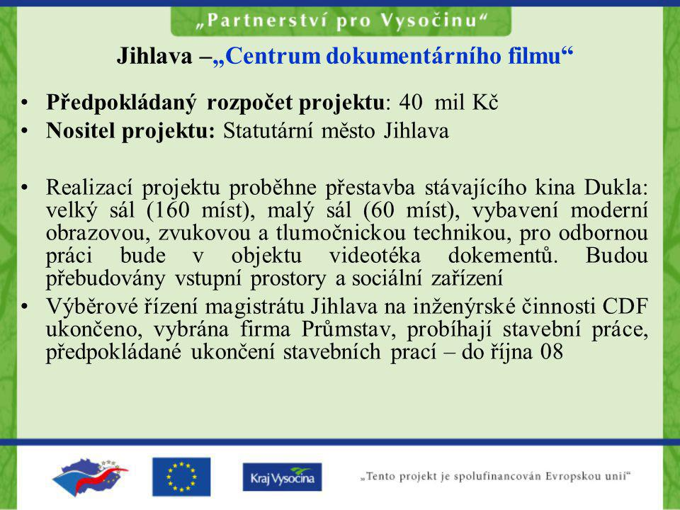 "Jihlava –""Centrum dokumentárního filmu"