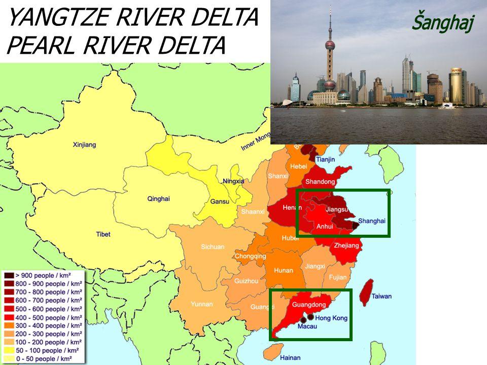 YANGTZE RIVER DELTA PEARL RIVER DELTA Šanghaj