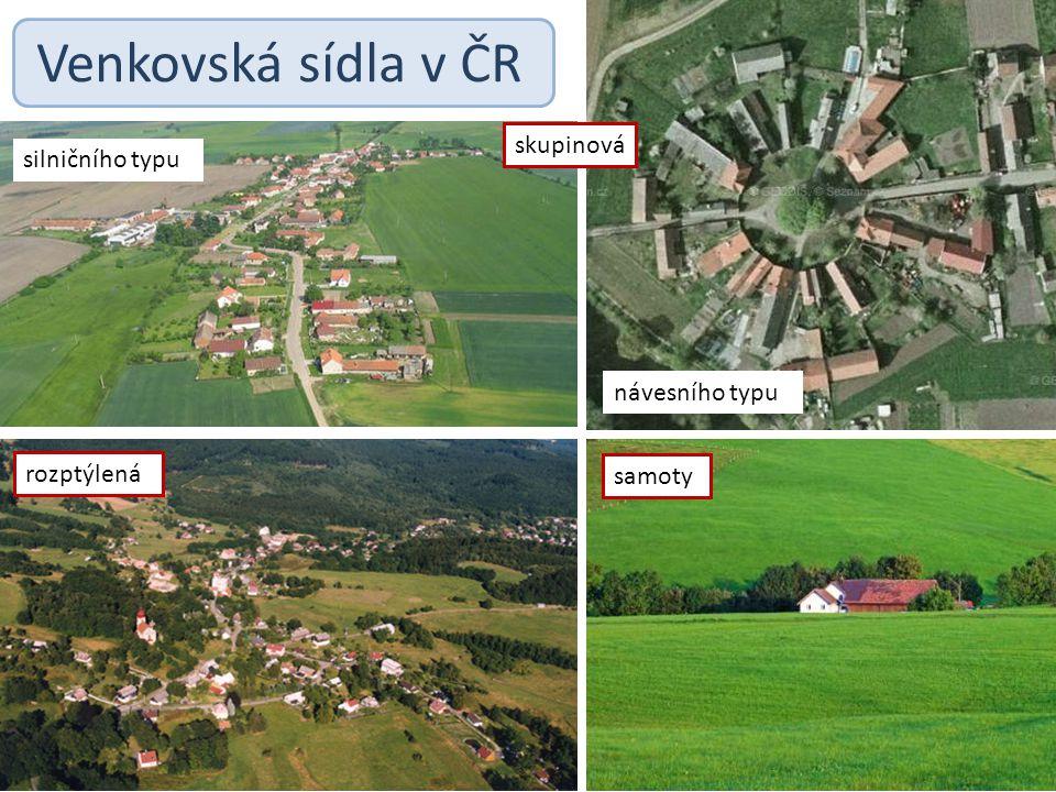 Venkovská sídla v ČR skupinová silničního typu návesního typu