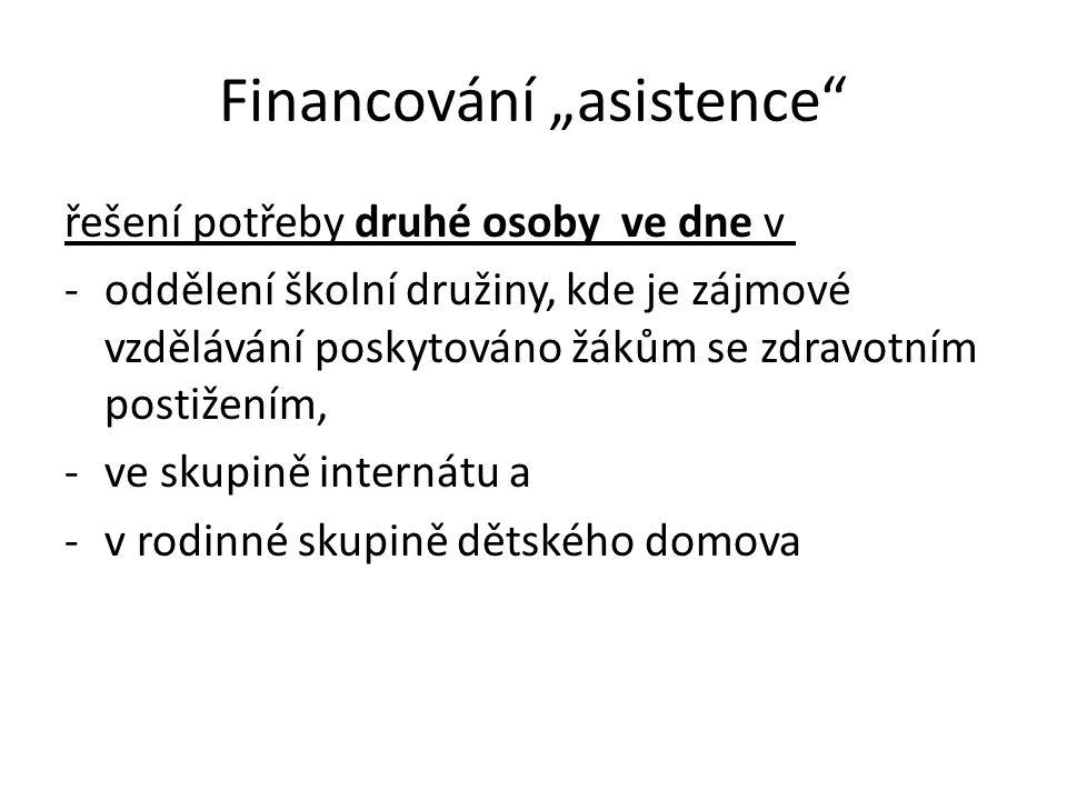 """Financování """"asistence"""