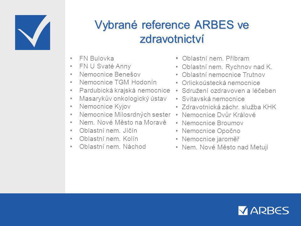 Vybrané reference ARBES ve zdravotnictví