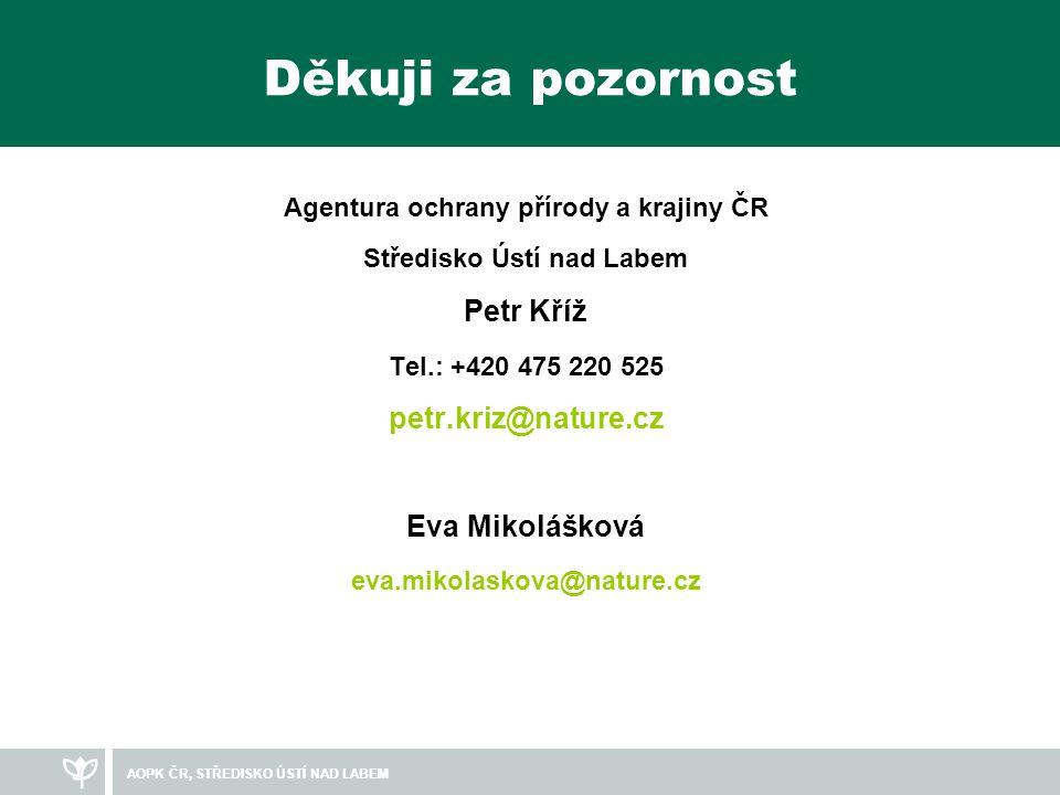 Agentura ochrany přírody a krajiny ČR Středisko Ústí nad Labem