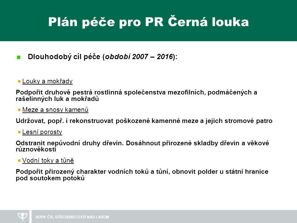 Plán péče pro PR Černá louka